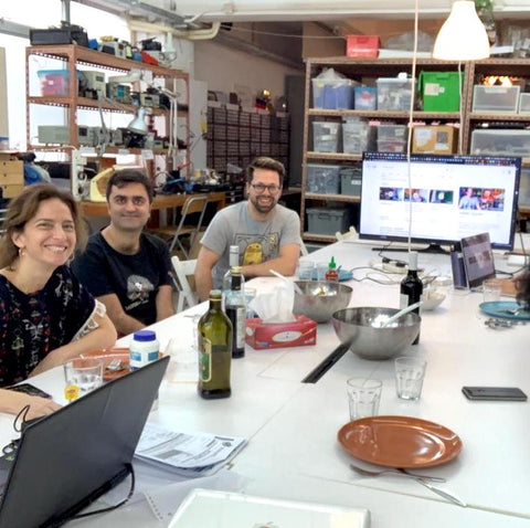 Lunch with biohacker Josiah Zayner at MakerBay