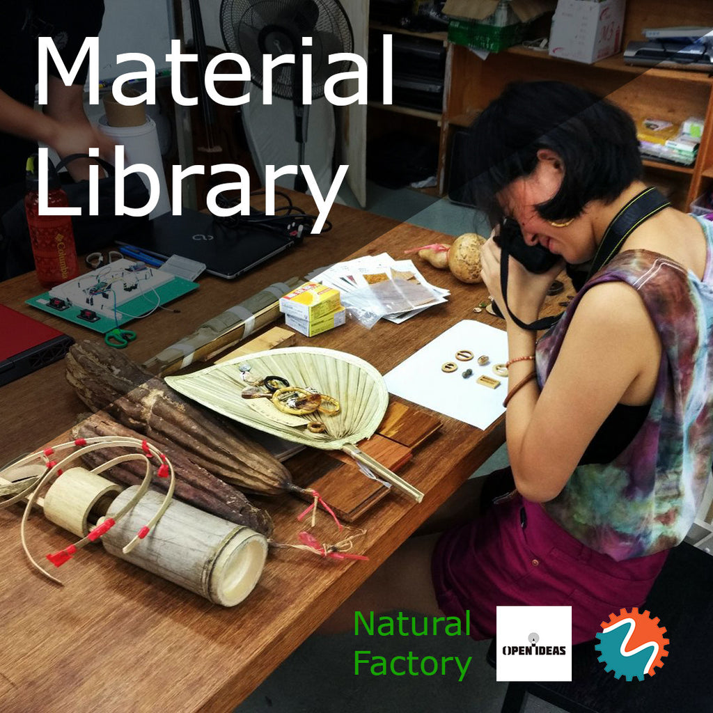 """Natural Factory"" the material library to inspire you design sustainable products, by MakerBay and SDOI"