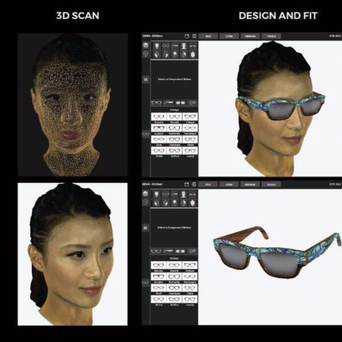 3D Face scanning and Design you own eyewear 【SUMMER】