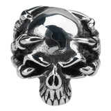 Stainless Steel Demon Claw Skull Ring