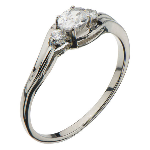 Stainless Steel Multi CZ Ring