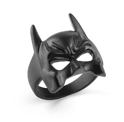 Black Stainless Steel Batman Mask Ring