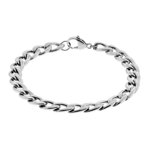 Stainless Steel Curb Link Chain Bracelet