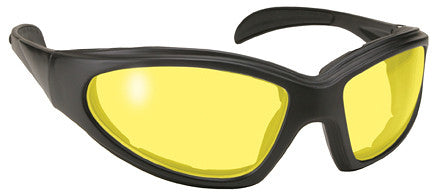 Chopper Padded Motorcycle Glasses Yellow Lens