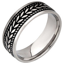 Stainless Steel Braided Rope Ring