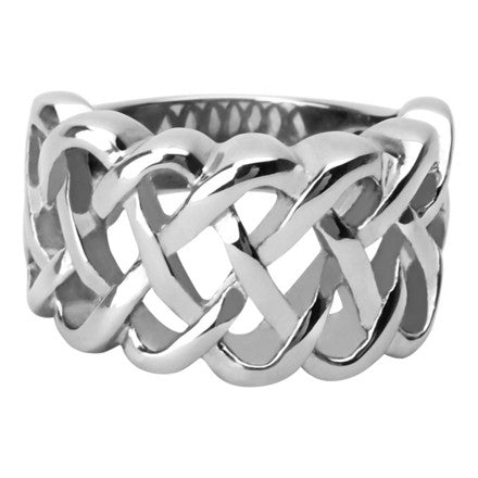 Stainless Steel Half Braided Ring