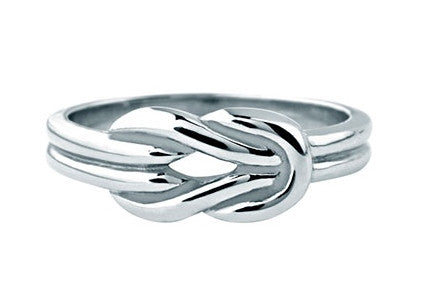 Stainless Steel Polished Hercules Knot Ring