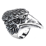 Stainless Steel Black Oxidized Bird Head Ring