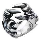 Stainless Steel Black Oxidized Crow Feet Ring