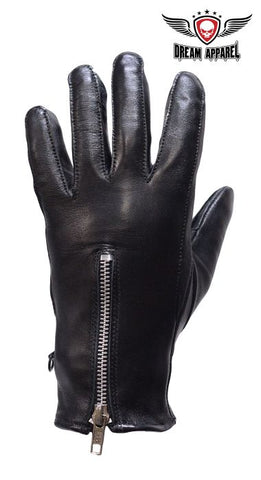 Womens Full Finger Gloves With Zipper