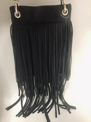 CHIC931-BLK The Chic Bag crossbody fringe handbag
