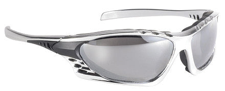 Silver Streak Padded Motorcycle Glasses