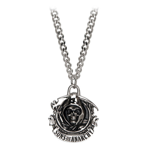 Sons of Anarchy Stainless Steel Grim Reaper Pendant with Chain