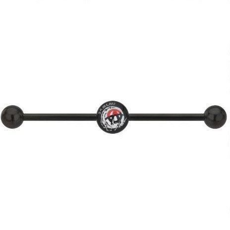 "Sons Of Anarchy ""A"" SAMCRO Anodized Titanium Industrial Barbell"