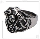 Sons of Anarchy Celtic Engine Stainless Steel Ring
