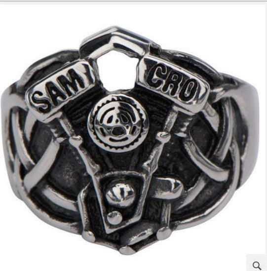 Sons of Anarchy Celtic Engine Stainless Steel RingBiker ...
