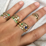 Pinky snake emerald ring