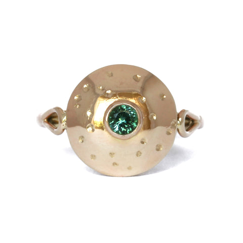 Large domed tourmaline ring