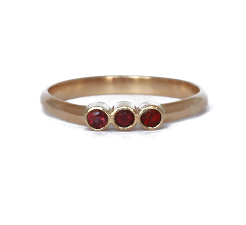 RESERVED for Ruben - Pinky orange sapphire ring