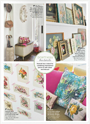 Vintage Florals in Ideal Home Magazine