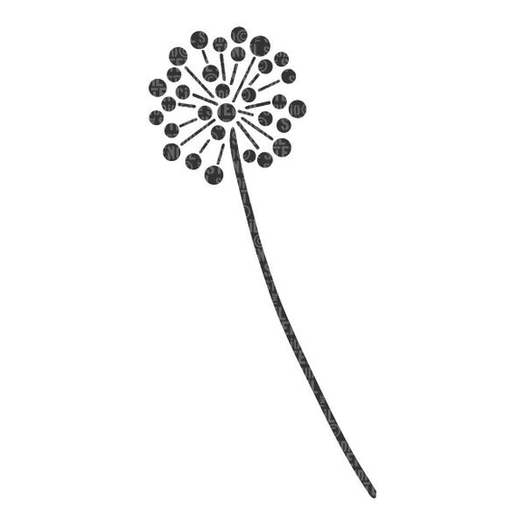 Stencil (A5) - Allium flower