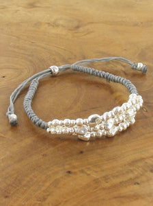 ADJUSTABLE BRACELET WITH SILVER NUGGETS RG10/11