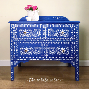 Moroccan Blue Chest of Drawers