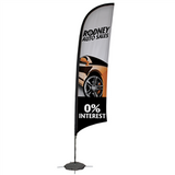 13' Razor Sail Sign Kit Single-Sided with Scissor Base