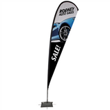 15' Tear Drop Sail Sign Kit Single-Sided with Scissor Base