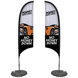 9' Razor Sail Sign Kit Double-Sided with Scissor Base