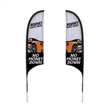 7' Razor Sail Sign Kit Double-Sided with Spike Base