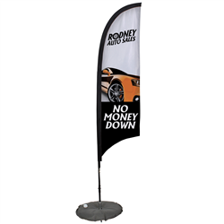 7' Razor Sail Sign Kit Single-Sided with Scissor Base