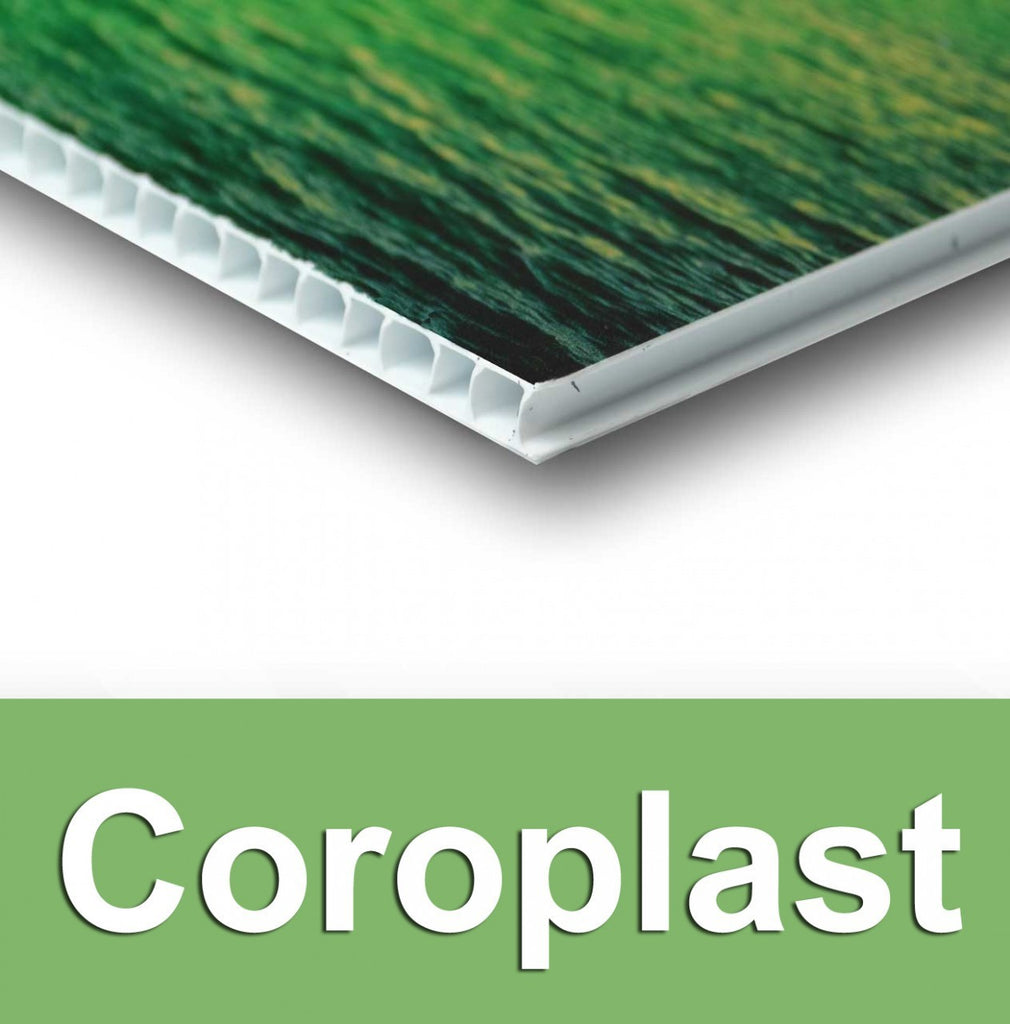 Coroplast Signs (prices shown are the unit price & includes an H-Stake for each)