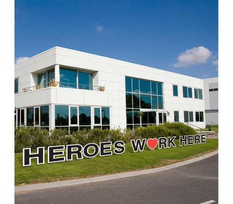 Heros Work Here Yard Cards - Free ground shipping
