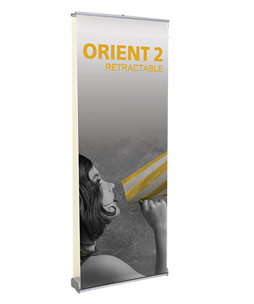 Orient 2 - Two Sided Retractable Display