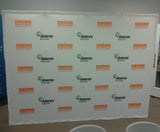 SwiftHopUp Straight Fabric Backdrop - To Fill an 8' Wide Space (Options)