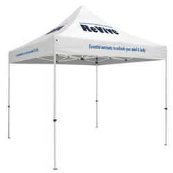 Standard 10 x 10 Event Tent Kit (Full-Color Thermal Imprint, 6 Locations)