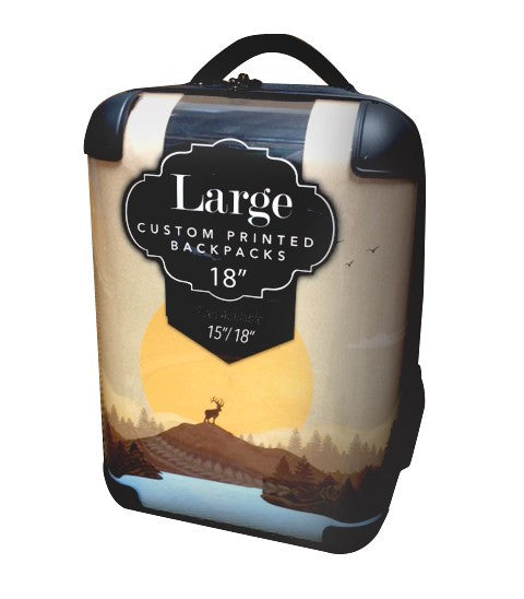 "Custom Printed Back Pack - 18"" Large"
