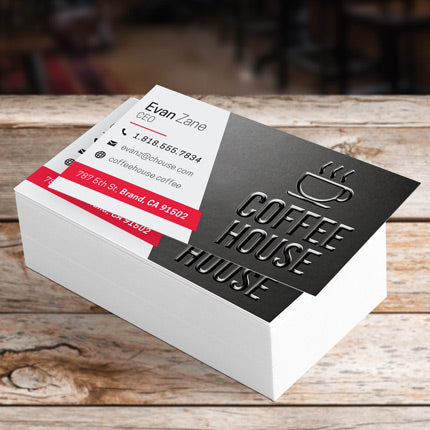 Raised Spot UV Business Cards - Call/Email for Pricing on Additional Sets