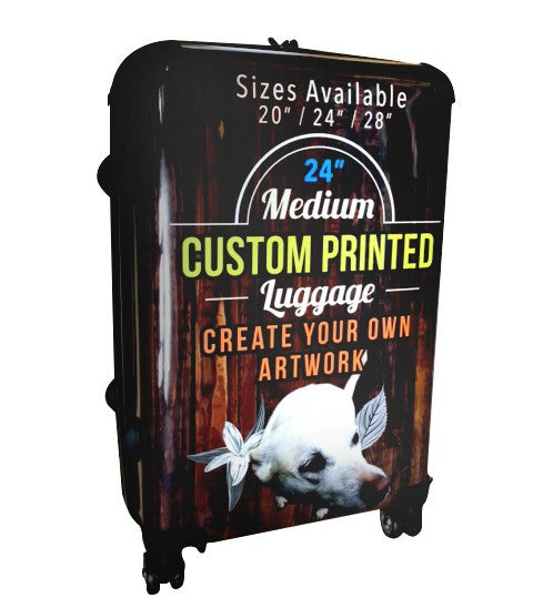 "Custom Printed Luggage - 24"" Medium"