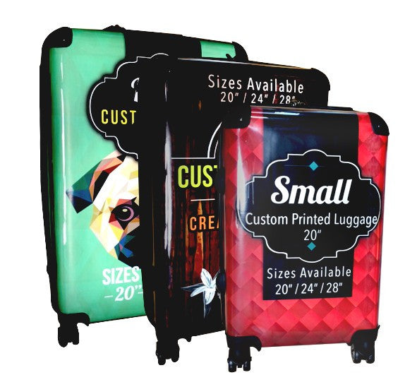 Custom Printed Luggage - 3 Piece Set