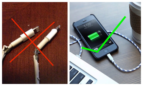 iPhone braided  lightning cable -laava.com