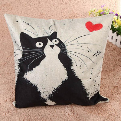 Cat Square Pillow Covers Decorative Cushion Covers