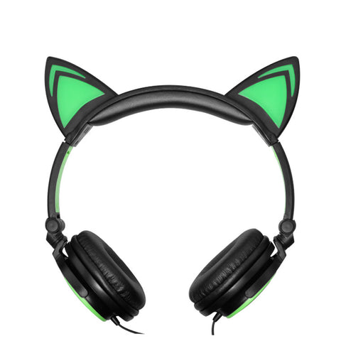 Glowing Cat Ear Shaped Headphones