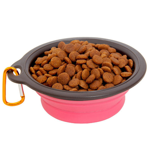 Pet Travel Collapsible Feeding Bowl
