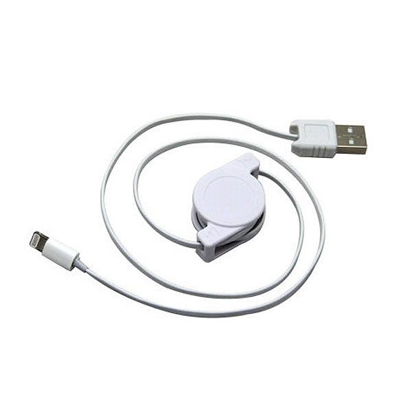 1m iPhone 5s Charger Retractable Cable to USB