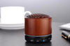 Mini Bamboo Wireless Bluetooth Speakers with LED Light