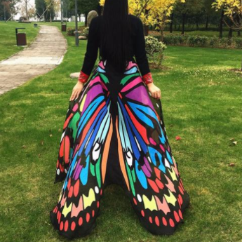 """Flutter Wings"" Butterfly Cape Womens Skirt"