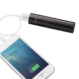 Tube Shaped Metallic Coloured Power Bank 2400 mAH