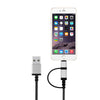 2 in 1 MFI Data/Charging Cable